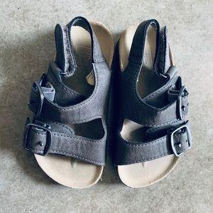 Boys Gap Brown Gray Sandals 7 8